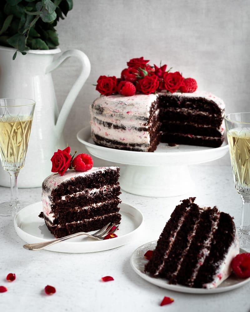 Layer Cake Chocolat Chantilly Framboise