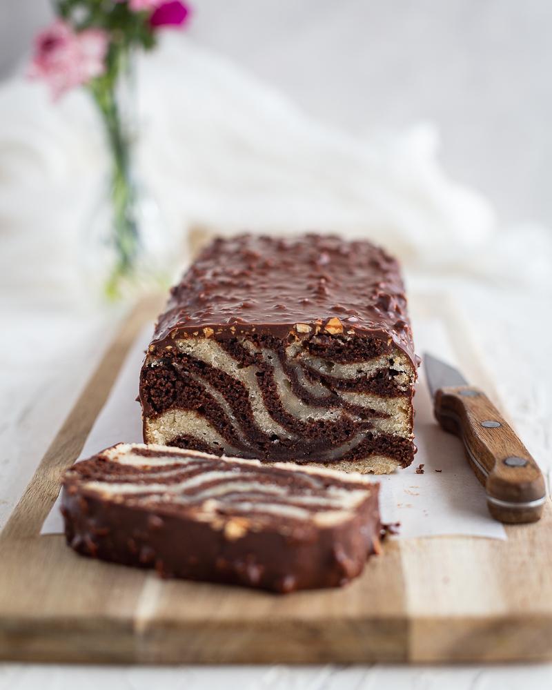 Cake Marbré Vegan, Glaçage Rocher