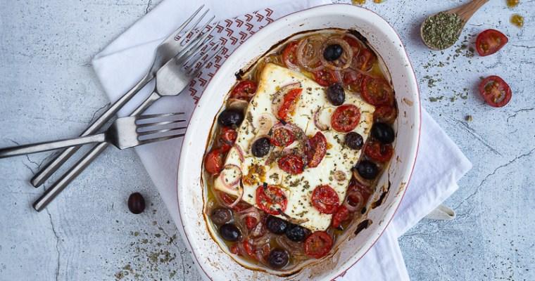 Fêta Grillée au Four aux Olives et Tomates Cerises