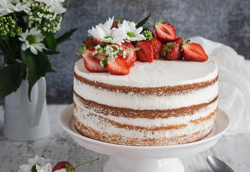 Naked Cake Fraises Chantilly Mascarpone