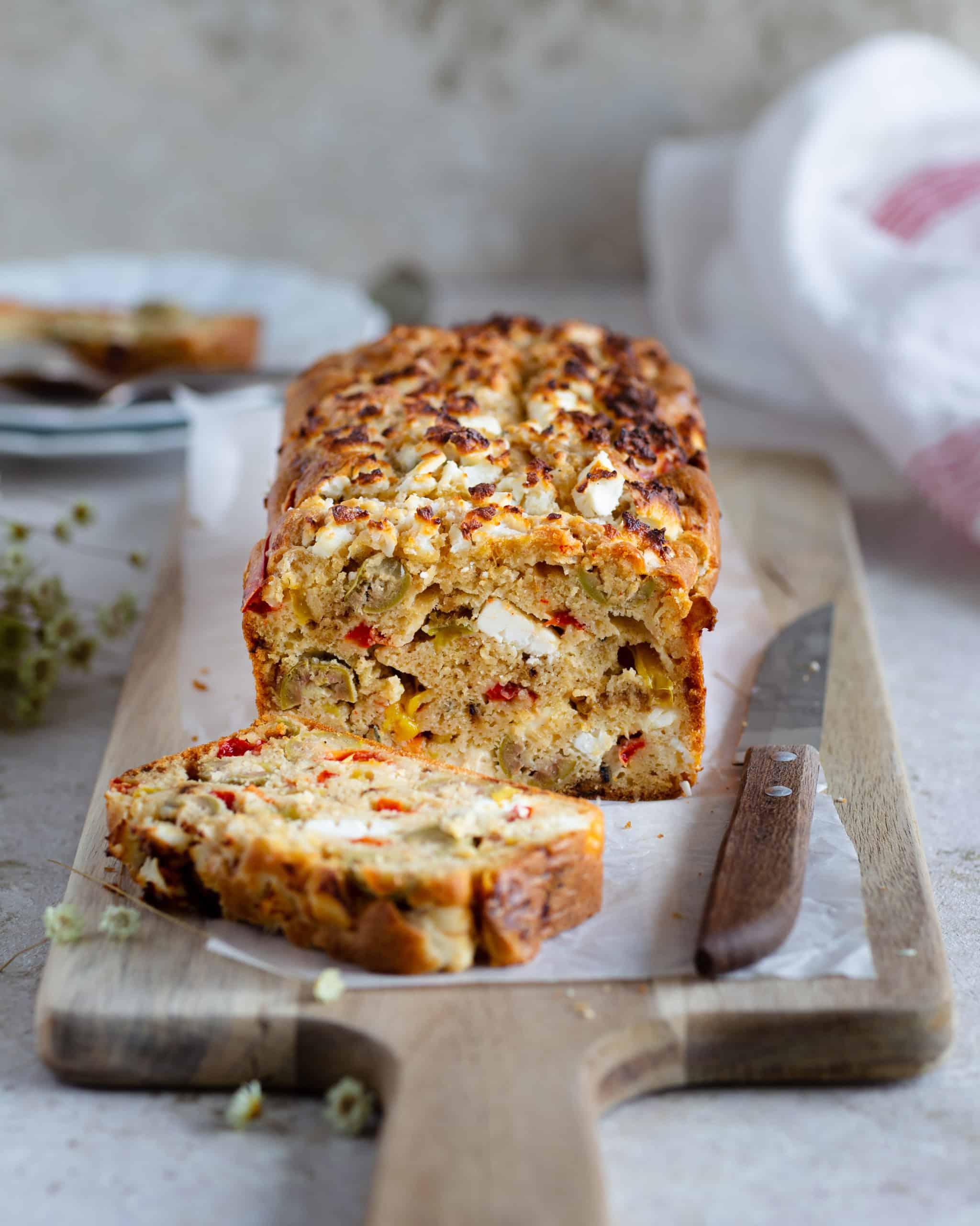 Cake Poivrons Olives et Feta