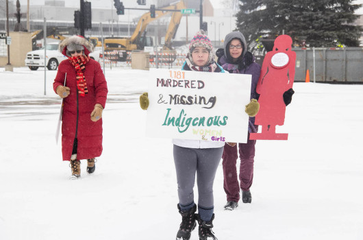 Valentine's Day has become the official day for Native women to recognize and memorialize the missing and murdered women and girls whom they believe government leaders in the United States and Canada too often ignore. Jolene Yazzie