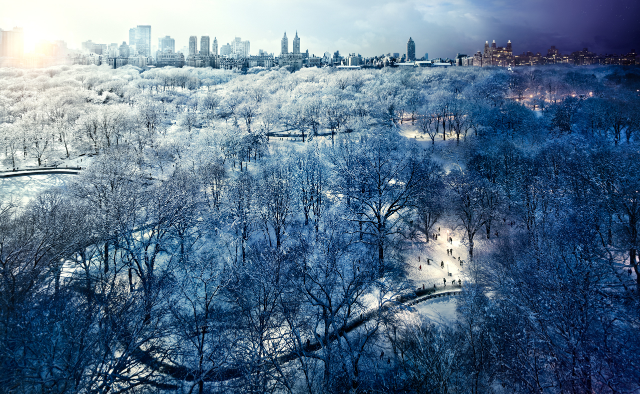STEPHEN WILKES Central Park Snow, New York City (from the series Day to Night), 2010.