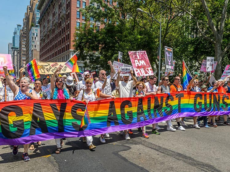 Gays Against Guns in the NYC Pride March