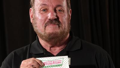 Daniel Rushing buys a Krispy Kreme doughnut every other week. (July 27, 2016) (Ricardo Ramirez Buxeda / Orlando Sentinel)