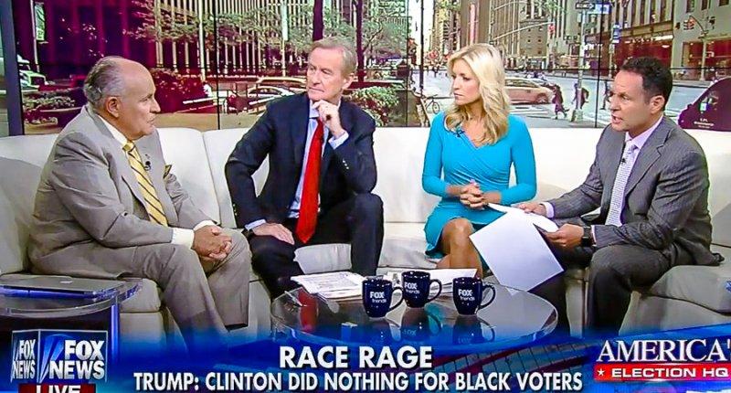 Rudy Giuliani speaks to Fox News host Steve Doocy, Ainsley Earhardt and Brian Kilmeade (screen grab).