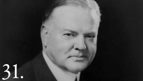 Herbert Hoover lived with an uncle who was an Indian agent on the Osage Nation when he was six years old. Whitehouse.gov