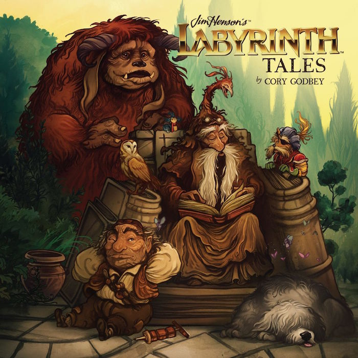 Cover for Jim Henson's Labyrinth Tales. Illustrated by Corey Godbey. Photo courtesy of BOOM! Archaia.