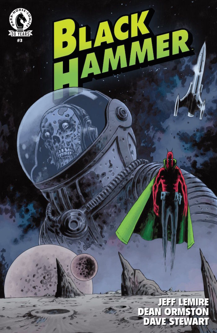 Cover for Black Hammer #3. Illustrated by Dean Ormston. Photo courtesy of Dark Horse Comics.