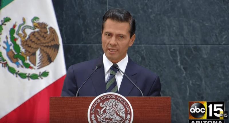 Mexican President Enrique Peña Nieto (Screen cap).