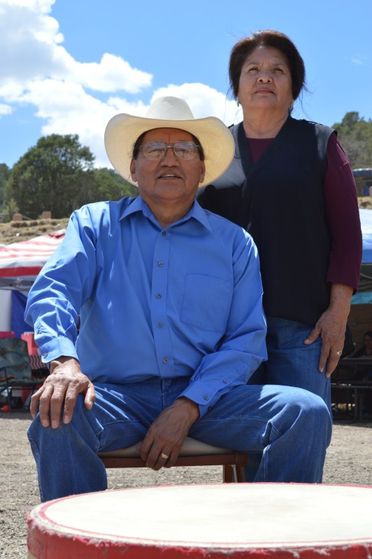 Hazel Spottedbird, seen here with her husband Tommy, is a descendant of Cochise. (Photo by Kerri Cottle).