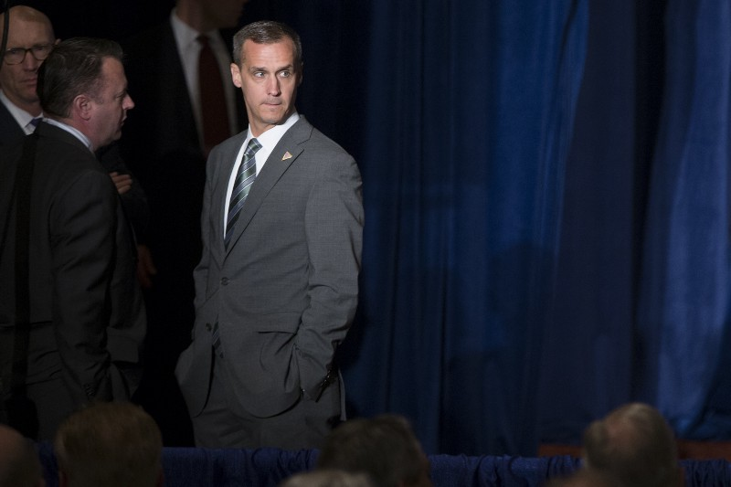 Former Trump campaign manager Corey Lewandowski. CREDIT: AP Photo/Evan Vucci.