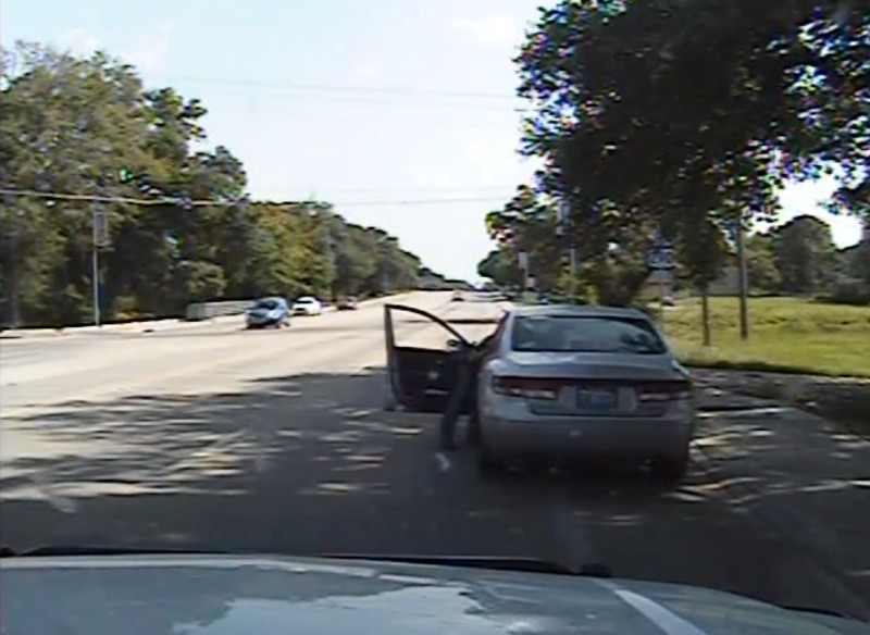 Dash camera footage shows violent arrest of Sandra Bland. CREDIT: Associated Press