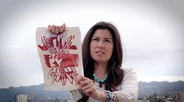 Tomahawk Greyeyes/YouTube Deezbaa Andrea O'hare reads a letter to Columbus written by Corrina Gould. Tell Columbus how you feel in your own letter.