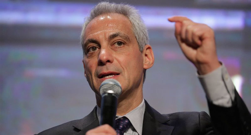 Chicago Mayor Rahm Emanuel announced that young undocumented people will still be able to go to school and qualify for free community college education (AFP Photo/Chip Somodevilla).