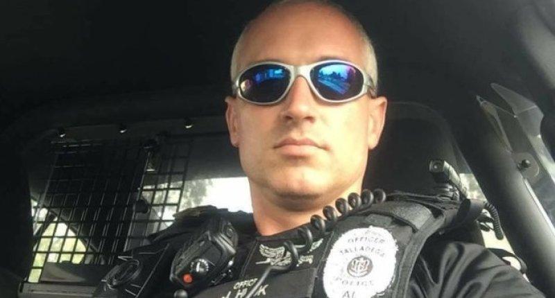Former Talladega police officer Joe Husk (Facebook).