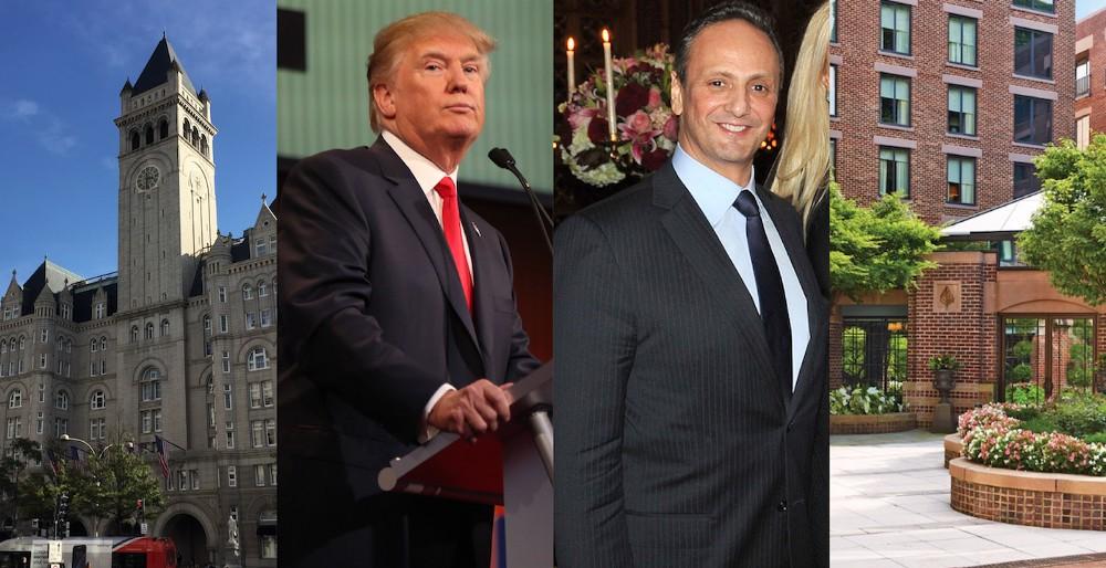 From left to right: Trump International Hotel, President-elect Trump, Ambassador of Kuwait Salem Al-Sabah, The Four Seasons Hotel CREDIT: AP/Flickr/Composite.