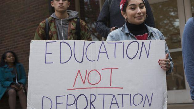 A student protests against Donald Trump's proposals at Rutgers University on November 16. Albin Lohr-Jones/Sipa USA via AP.