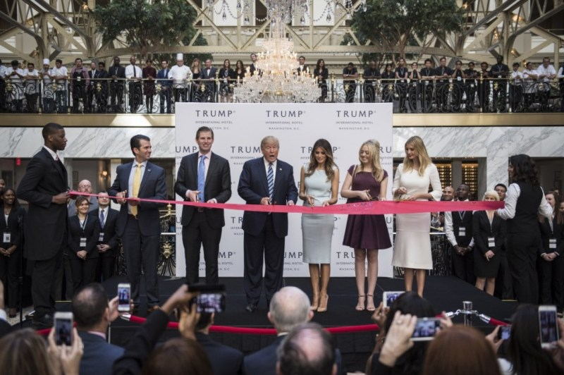 In the months after Trump and his family cut the ribbon at Trump's D.C. hotel in October, three subcontractors filed liens seeking more than $5 million in bills they claim have not been paid. (Jabin Botsford/The Washington Post).