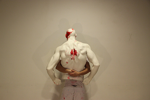 Conversation with a Mannequin, 2013, Kelvin Atmadibrata performance for the camera.