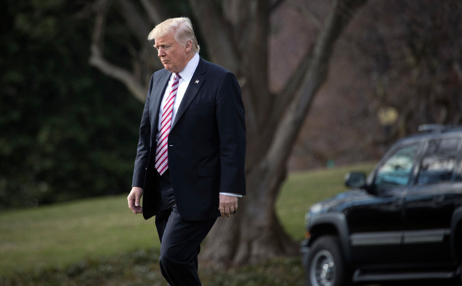 President Trump, leaving the White House last month, has been increasingly frustrated that his whirlwind start has not been sufficiently appreciated. Credit Stephen Crowley/The New York Times.