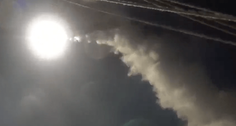 Airstrike on Syria (Photo: screen capture).