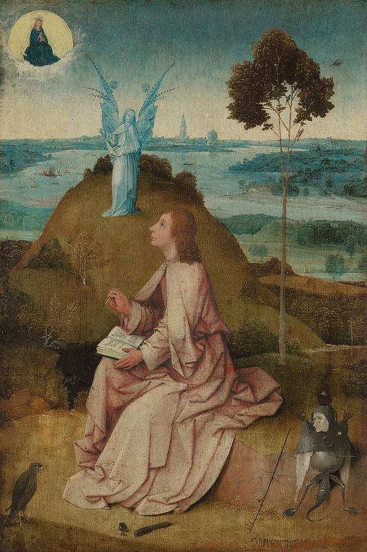 St. John the Evangelist on Patmos by Hieronymous Bosch, circa 1489