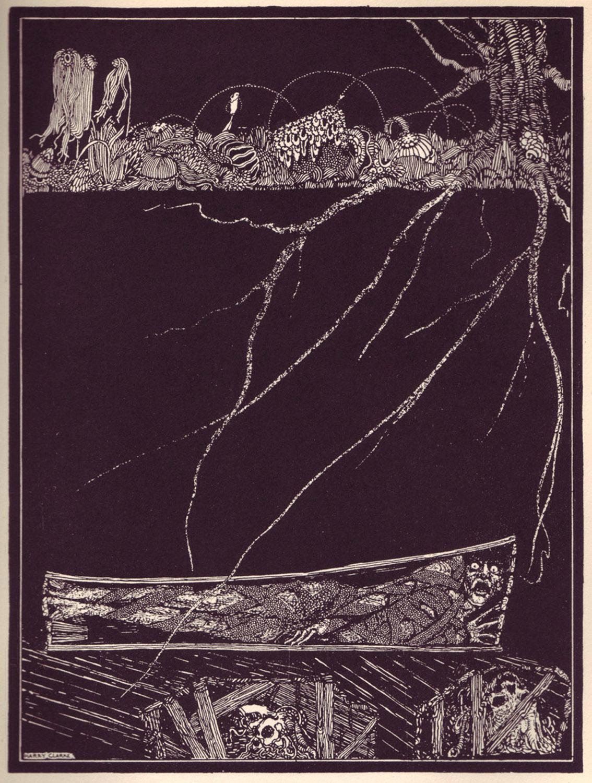 Deep, deep, and for ever, into some ordinary and nameless <em>grave</em>.