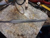 Cleaned dagger blade