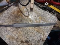 Cleaned dagger blade