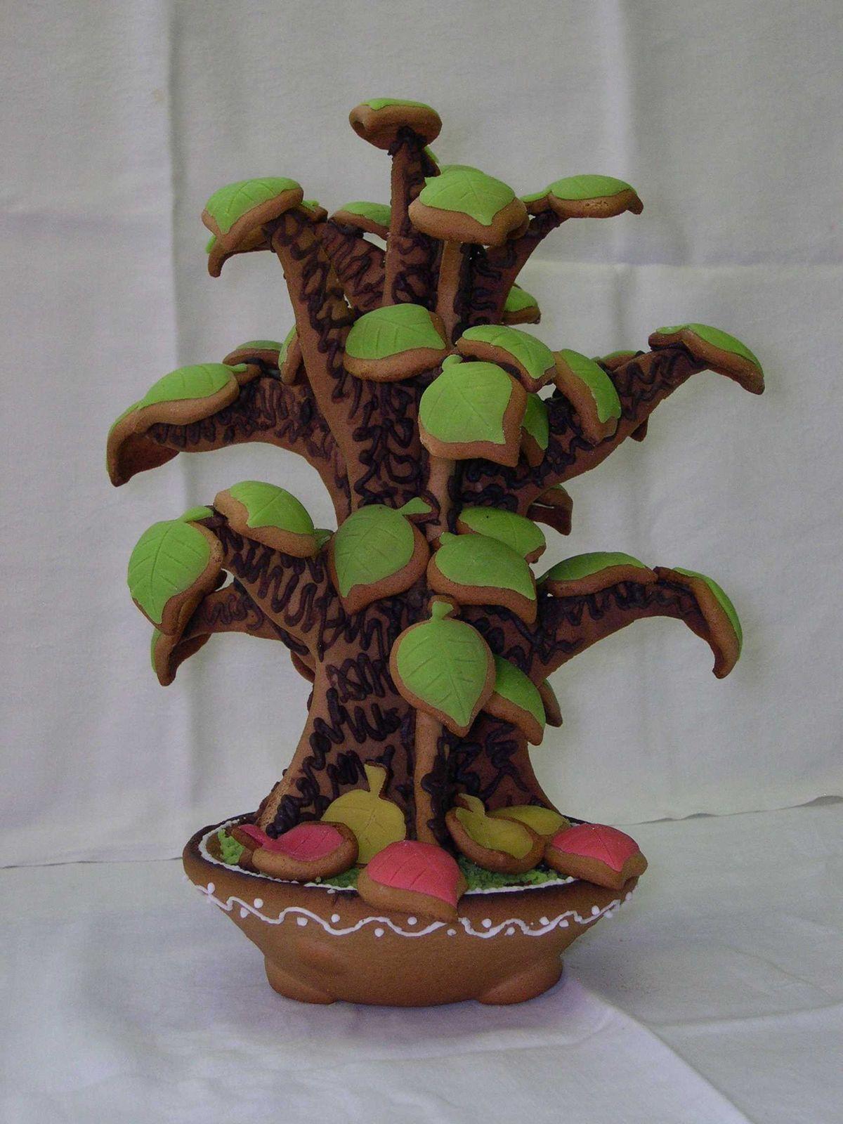 Gingerbread bonsai.