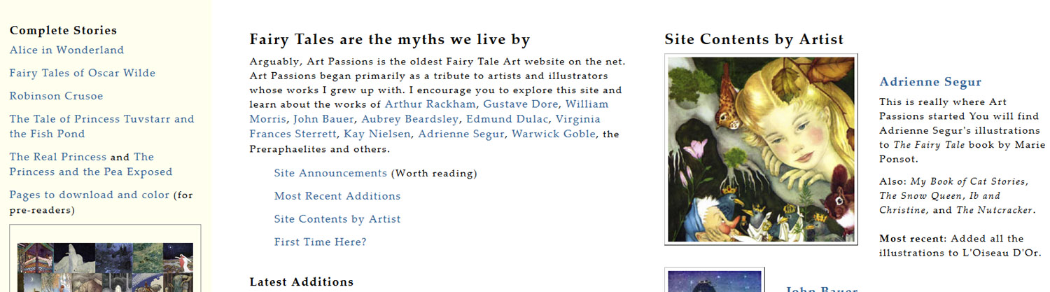 Art Passions Fairy Tales. Screengrab.