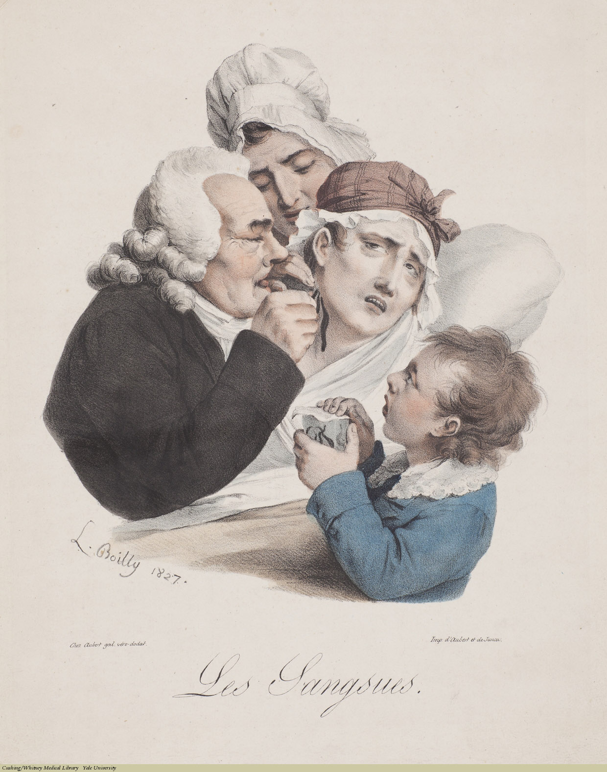 Les Sangsues, Louis-Léopold Boilly, Lithograph,1827.