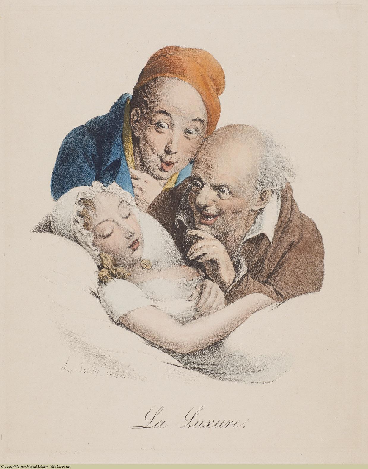 Louis-Léopold Boilly, La Luxure (Lechery), Lithograph, 1824.
