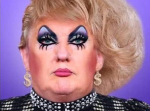 Trump in Drag, credit: Cheddar Gorgeous / Facebook.
