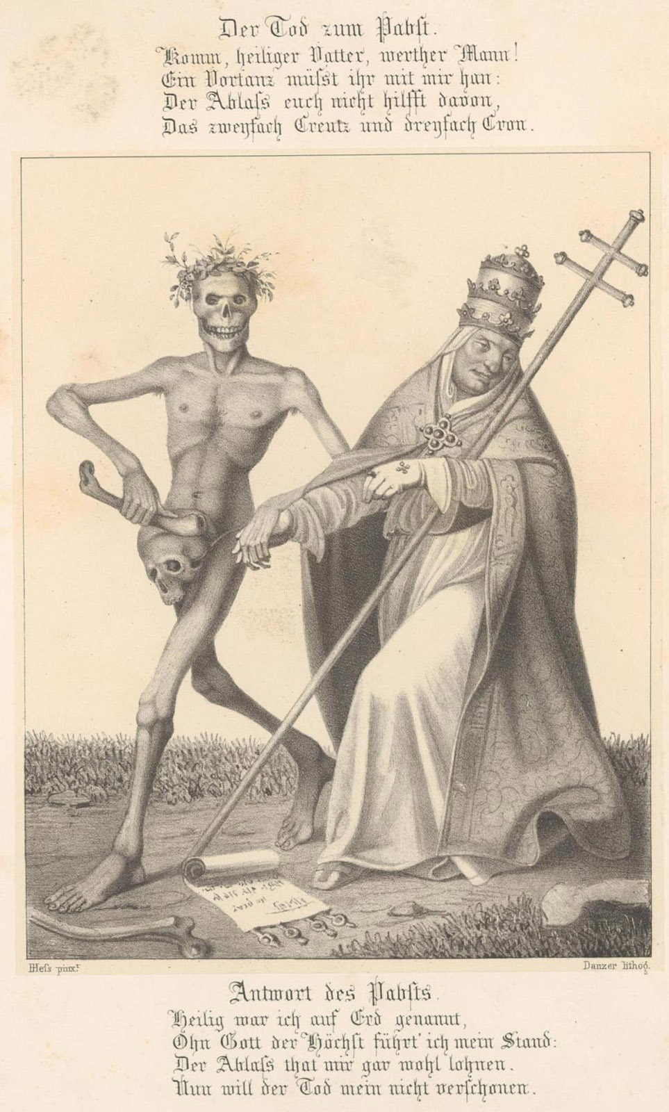 Death and the Pope. Click for full size.