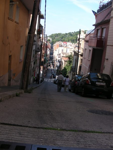 Very steep streets