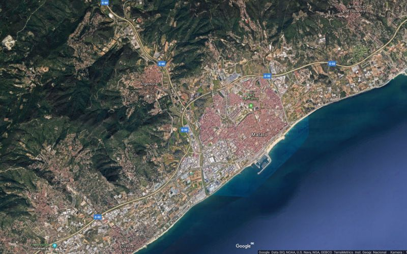 Google Earth view of the citiy of Matró