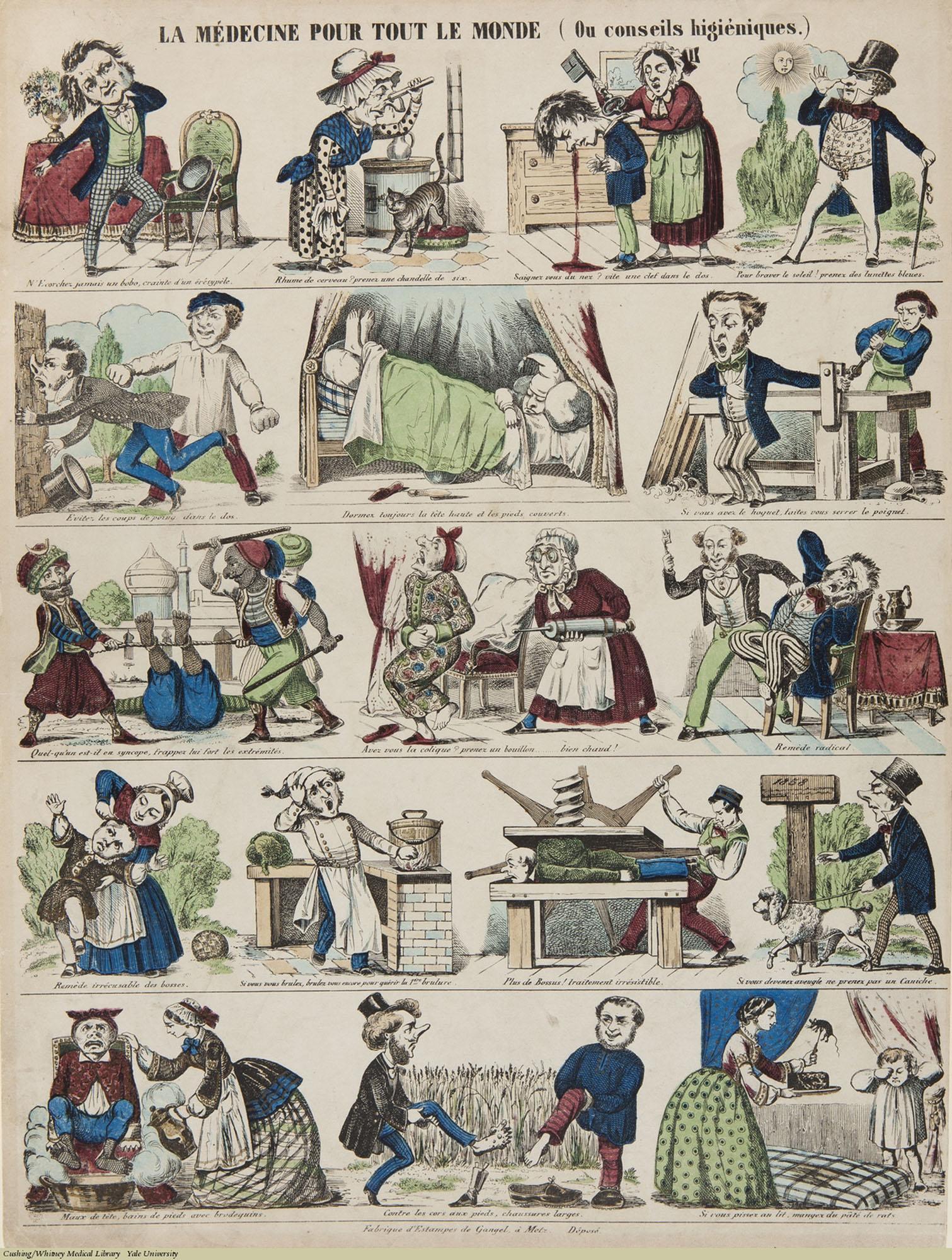 La Medecine pour tout le Monde (Ou conseils higieniques.) Anonymous, 19th Century. Subject: Medicine for Everyone, Hygiene.