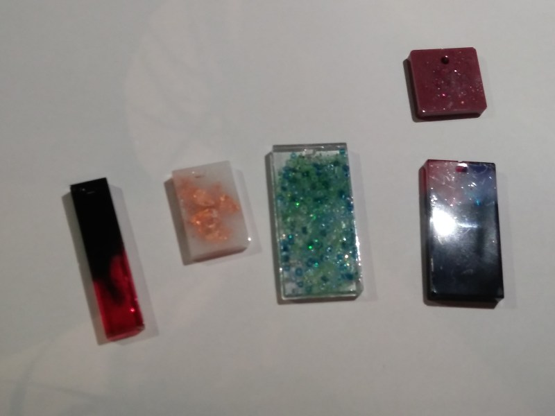 various pendants