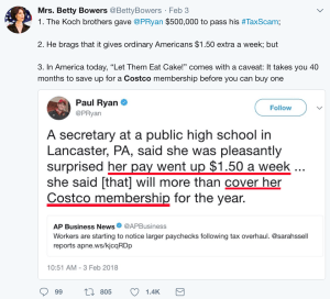 Tweet by Miss Betty Bowers