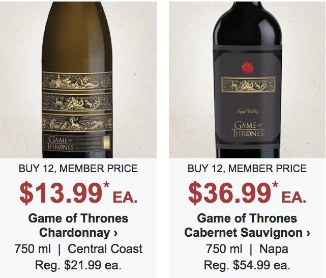 Game of Thrones Chardonnay