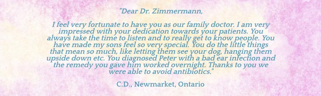 Zimmerman testimonial