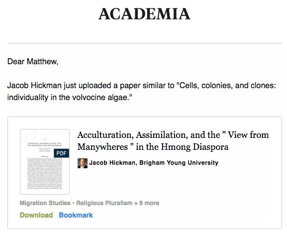 Academia Recommendation