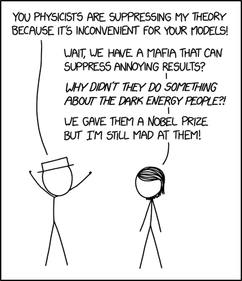 XKCD Physics Suppression