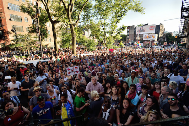 Stonewall crowd, Sunday June 12, 2016. (IMAGE: Donna Aceto)
