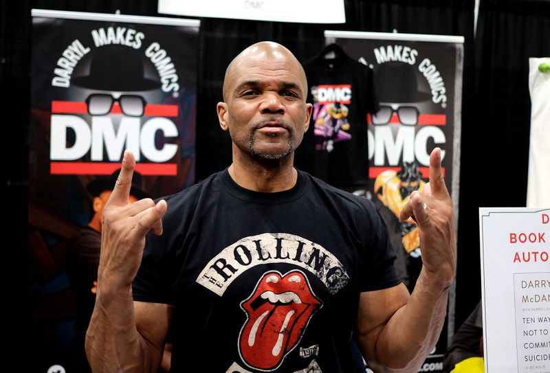 Darryl McDaniels, aka DMC, poses at his booth Darryl Makes Comics during 2019 Los Angeles Comic Con at Los Angeles Convention Center on October 11, 2019 in Los Angeles, Calif. (Paul Butterfield/Getty Images)