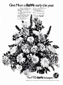 1970s FTD Florists Mothers Day Ad.