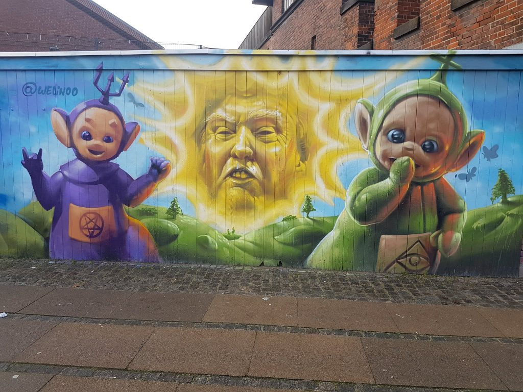 Trump and teletubbies