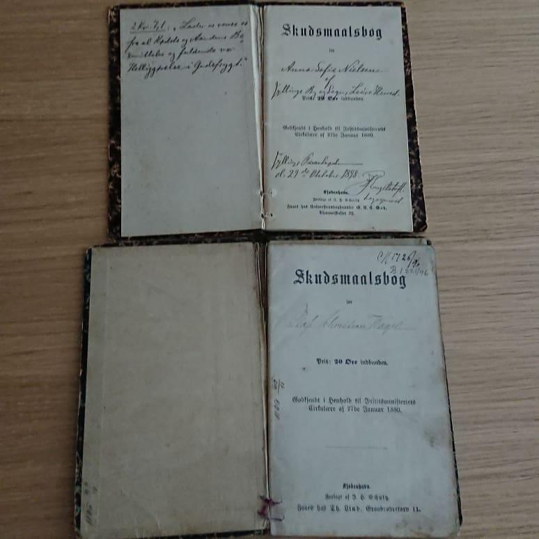 Title page of skudsmaalbog